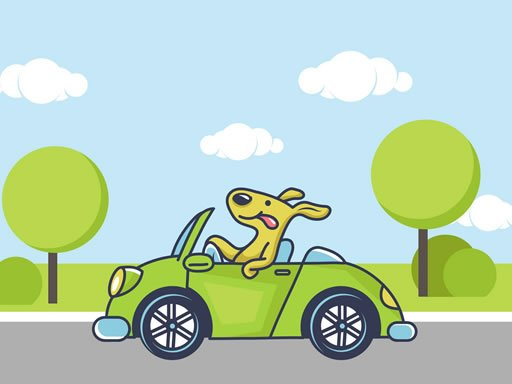 Play Animal Happy Drive Coloring Now!