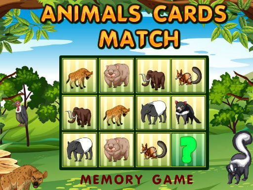 Play Animals Cards Match Now!