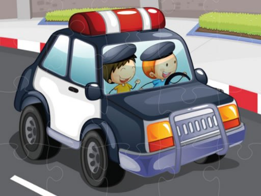 Play Police Cars Jigsaw Game Now!
