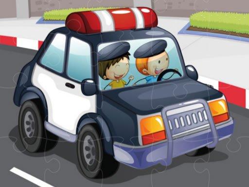 Play Police Cars Jigsaw Game Now!