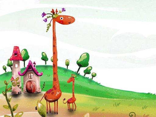 Play Cartoon Giraffe Puzzle Now!