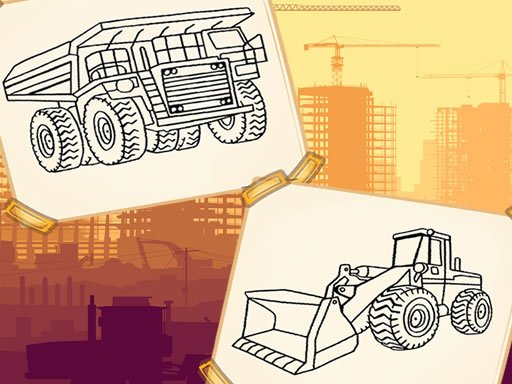 Play Construction Trucks Coloring Now!