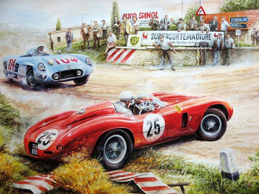 Play Painting Vintage Cars Jigsaw Puzzle Now!