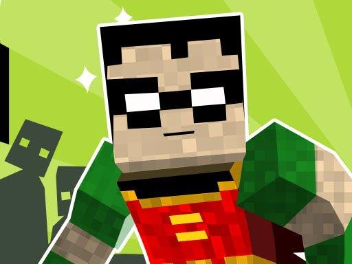 Play teen titans go minecraft teenage runner 3d Now!