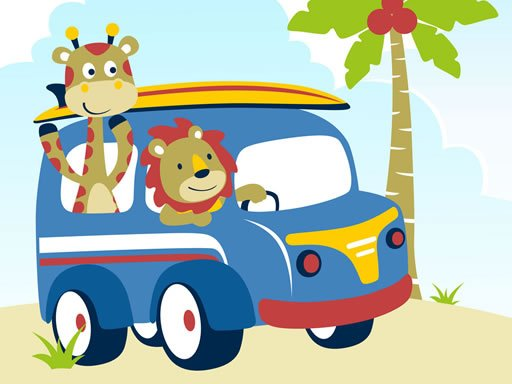 Play Cute Animals With Cars Difference Now!
