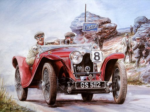 Play Painting Vintage Cars Jigsaw Puzzle 2 Now!