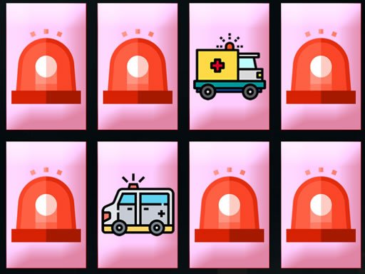 Play Ambulance Trucks Memory Now!