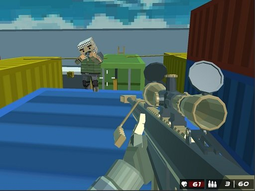 Play Shooting Blocky Combat Swat GunGame Survival Now!