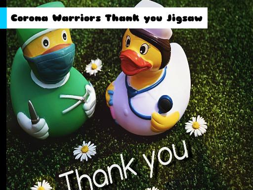 Play Corona Warriors Thank you Jigsaw Now!