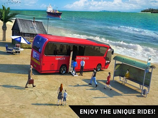 Play Floating Water Surface Bus Racing Game Now!