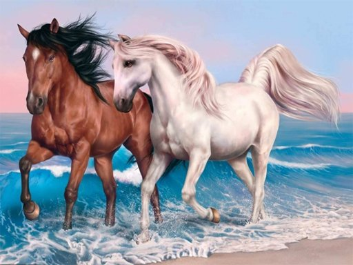 Play Animals Jigsaw Puzzle - Horses Now!