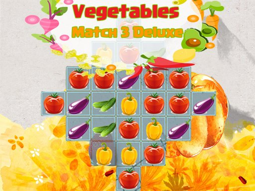 Play Vegetables Match 3 Deluxe Now!