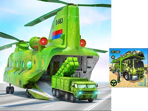 Play US Army Cargo Transport Truck Driving Now!