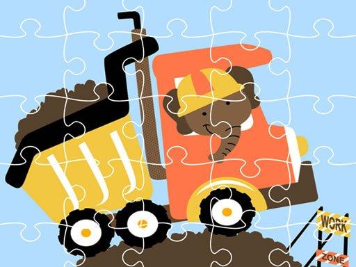 Play Dumper Trucks Jigsaw Now!