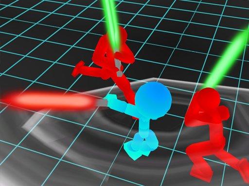 Play Stickman Neon Warriors: Sword Fighting Now!