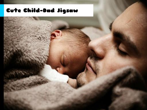 Play Cute Child-Dad Jigsaw Now!