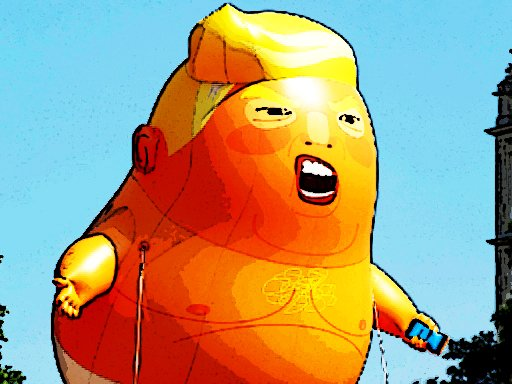 Play Trump Flying Adventure Now!