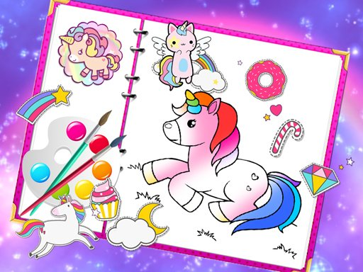Play Fabulous Cute Unicorn Coloring Book Now!