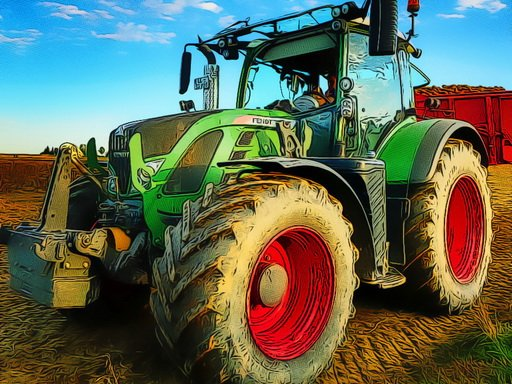 Play Farming Tractor Puzzle Now!
