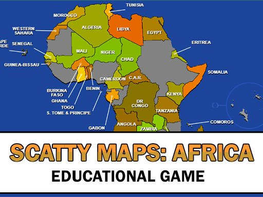 Play Scatty Maps Africa Now!