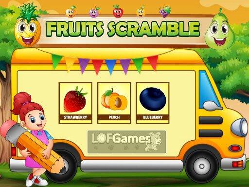 Play Fruits Scramble Now!