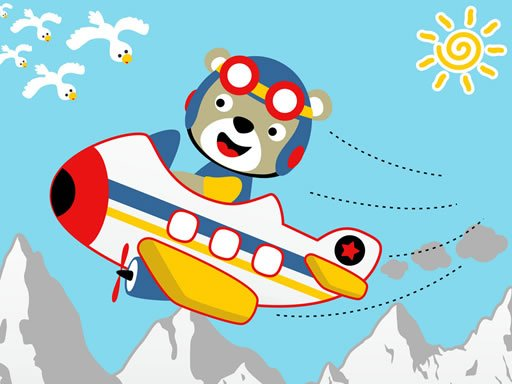 Play Friendly Airplanes For Kids Coloring Now!