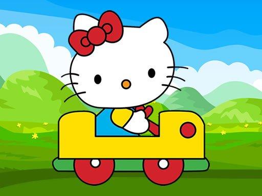 Play Hello Kitty Car Jigsaw Now!