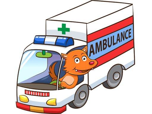 Play Cartoon Ambulance Puzzle Now!
