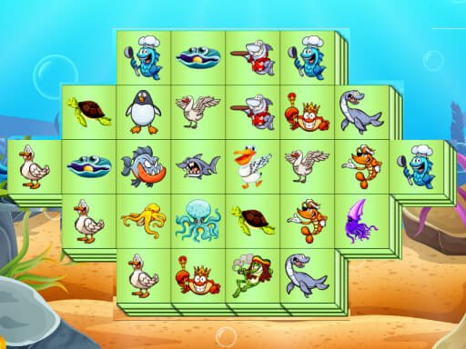 Play Aquatic Triple Mahjong Now!