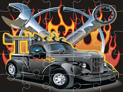 Play Hot Rod Jigsaw Now!