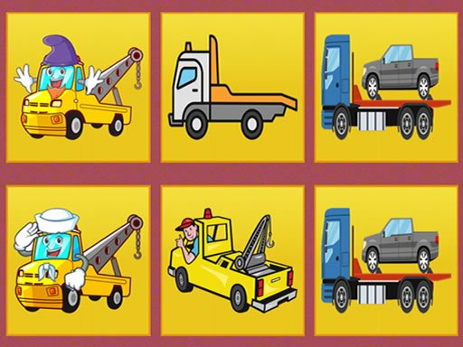 Play Tow Trucks Memory Now!