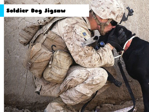 Play Soldier Dog Jigsaw Now!