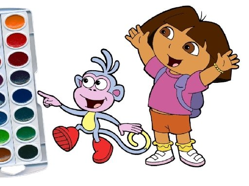 Play Dora The Explorer Coloring Book Now!