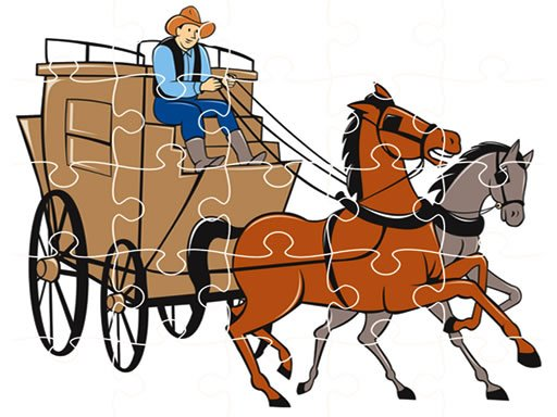Play Wagons Jigsaw Now!