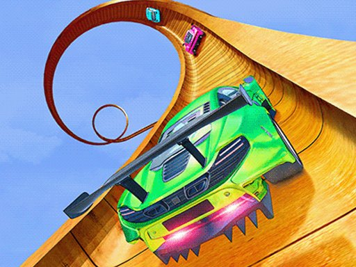 Play Mega Ramp Car Stunt Racing Mania Now!