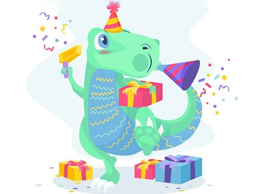 Play Dino Party Jigsaw Now!