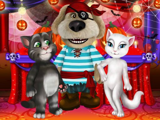 Play Talking Tom And Angela Halloween Party	 Now!