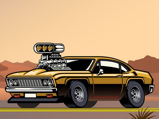 Play Crazy Big American Cars Memory Now!