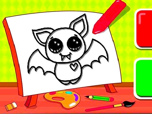 Play Easy Kids Coloring Bat Now!