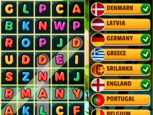 Play Word Search Countries Now!
