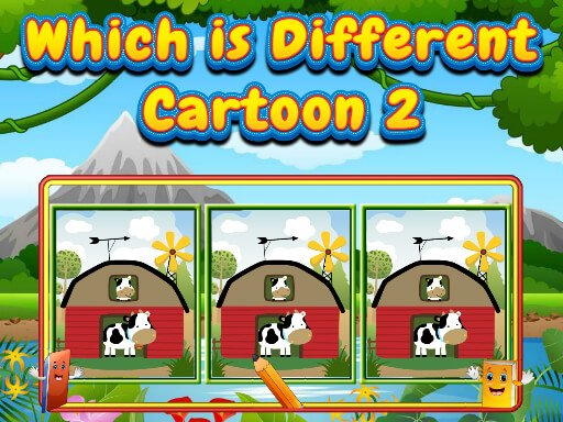Play Which Is Different Cartoon 2 Now!