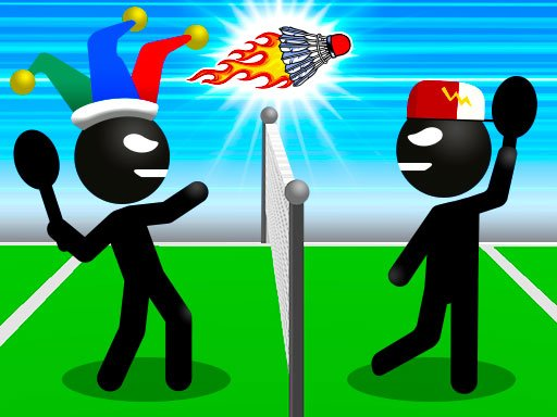 Play Stickman Sports Badminton Now!