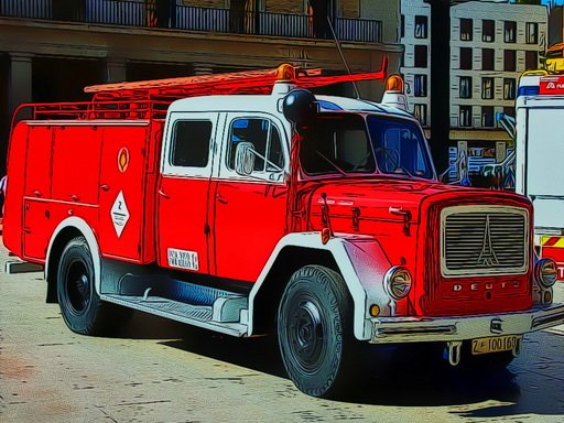 Play Firetruck Puzzle Now!