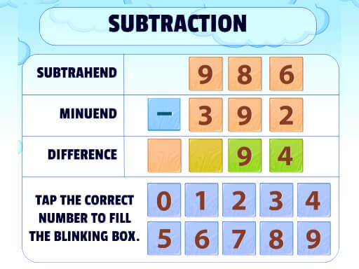 Play Subtraction Practice Now!