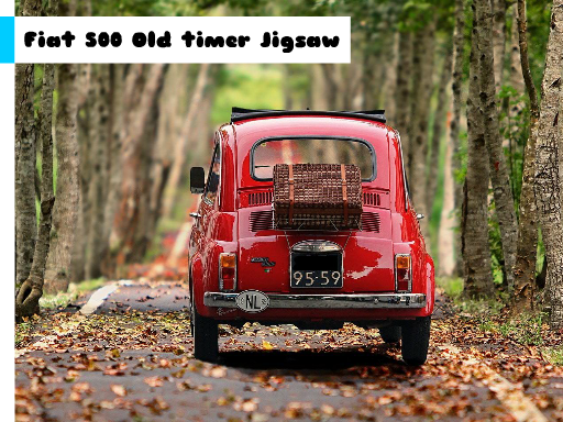 Play Fiat 500 Old Timer Jigsaw Now!