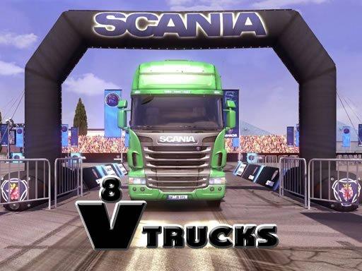 Play V8 Trucks Jigsaw Now!