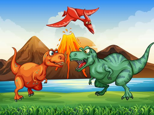 Play Colorful Dinosaurs Match 3 Now!