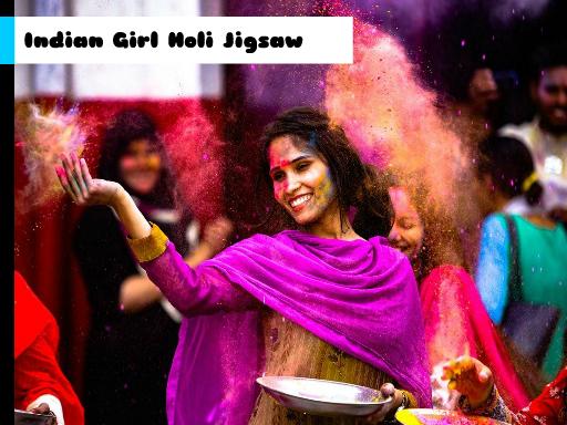 Play Indian Girl Holi Jigsaw Now!