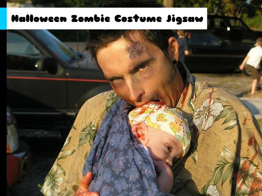 Play Halloween Zombie Costume Jigsaw Now!