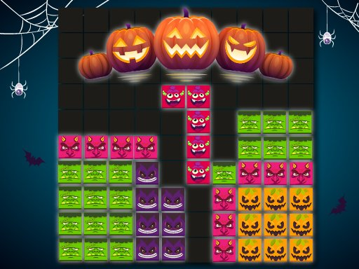 Play Blocks Puzzle Halloween Now!